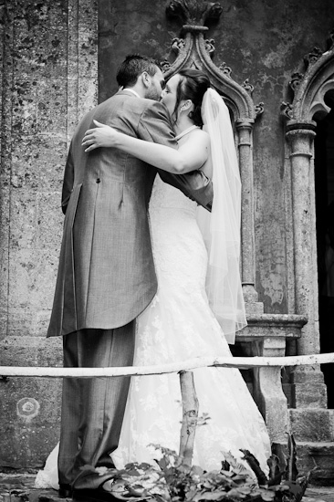 Rococo Gardens Wedding Photograph Couple kissing
