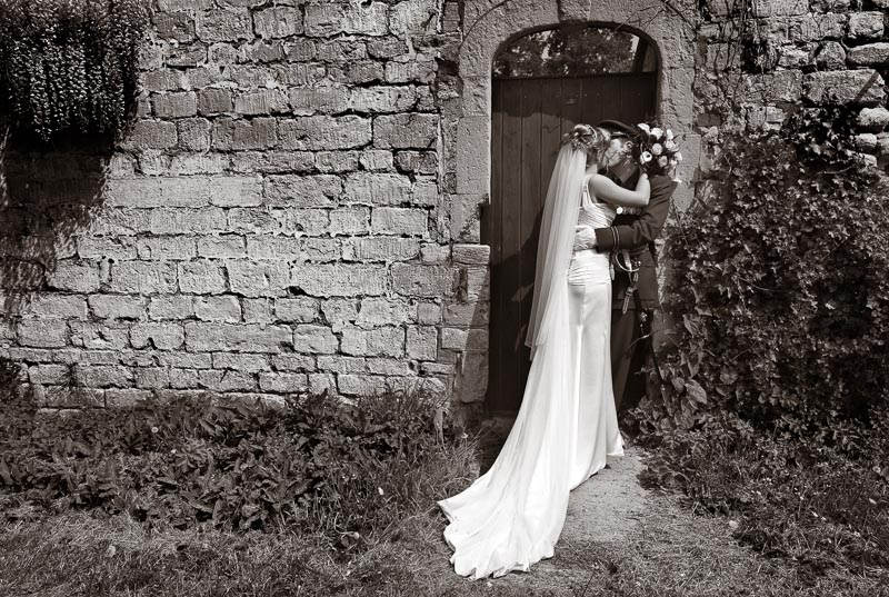 Eastington Park Wedding Photograph, Monochrome, Military Wedding.