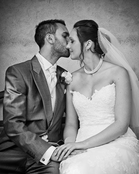 Rococo Gardens Wedding Couple Kissing