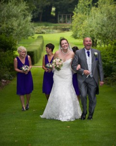 Walking up the aisle at Rococo Gardens