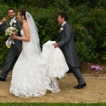Gloucestershire wedding photographer, Simon young's, pictures of, Rococo Gardens outdoors wedding.