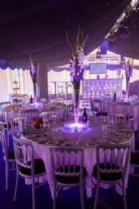 Wedding marquee amazing lighting