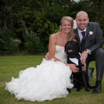 Black Labrador as Pageboy