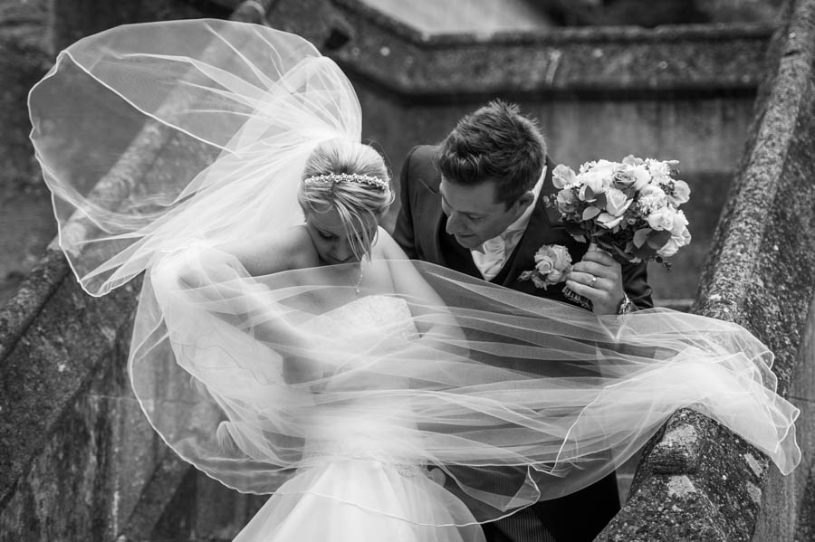 Jools and Alex Wedding Photograph Monochrome