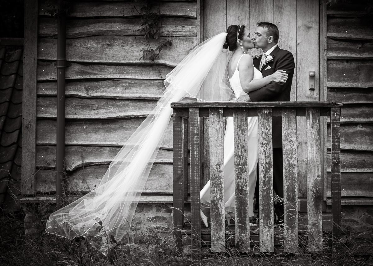 Hellens wedding Black and white picture