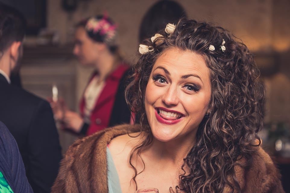 Castle Combe Wedding photograph, having fun.
