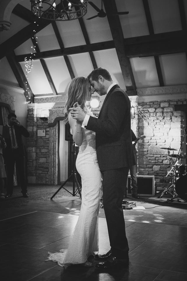 Castle Combe Wedding photograph, bride and groom. first dance.